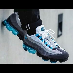 Nike Air VaporMax 95 Black/Neo Turquoise-Med Ash